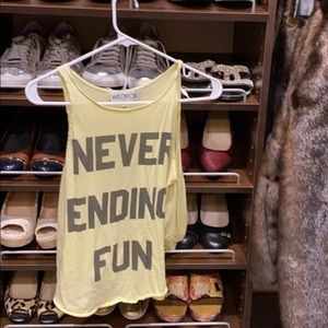 Never ending fun  wildfox tank top